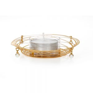 Orchid Tea light Candles Holder with Moon Shape