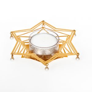 Orchid Tea light Candles Holder with Star Shape