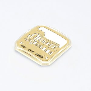 Orchid Coonoor Magnet Souvenir in a Square Shape with a White Base