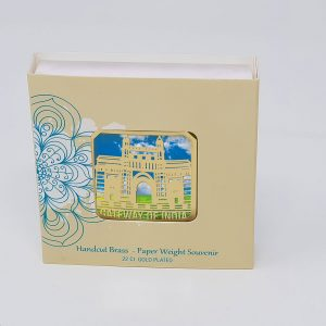 Orchid Gateway Of India  Paper Weight in a Square Shape