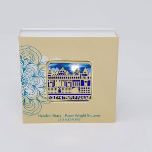 Orchid Golden Temple Punjab Paper Weight in a Square Shape