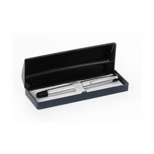 Orchid Tulip Ball Pen Motif Box Silver