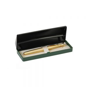 Orchid Trophy Ball Pen With Motif Box Golden