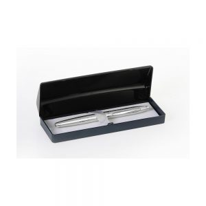 Orchid Slim FX Ball Pen With Motif Box Silver